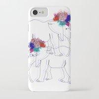 lana del rey iPhone & iPod Cases featuring Elephana del Rey. by mrljndr