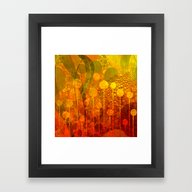 Framed Art Print featuring Modern Flowers by Andreas Wemmje