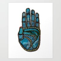 The Hand Of (Free)Time Art Print
