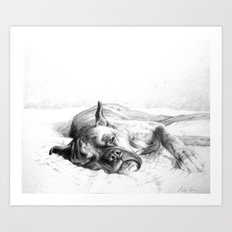 Lazy Mastiff Art Print