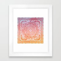 SPRING MANDALIKA Framed Art Print
