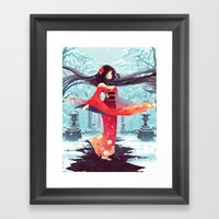 A Walk In The Asian Wint… Framed Art Print