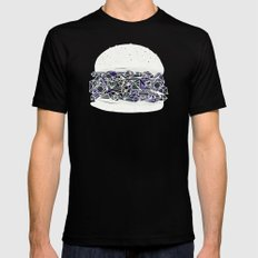 diamond burger Black SMALL Mens Fitted Tee