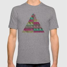 Pyramid Scheme Mens Fitted Tee Athletic Grey SMALL
