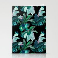 Midnight Iris / Black Stationery Cards