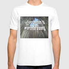 Every person is worth of a song Mens Fitted Tee SMALL White