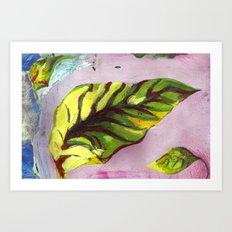 big green leaf Art Print