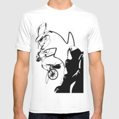 penguin posse SMALL White Mens Fitted Tee