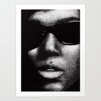 A Drawing Of Janelle Mon… Art Print