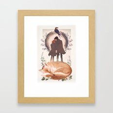 Fable of Mulder and Scully Framed Art Print