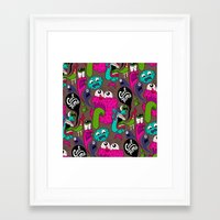 Framed Art Print featuring Cool Time Pattern by Chris Piascik