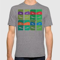 TMNT Mens Fitted Tee Tri-Grey SMALL