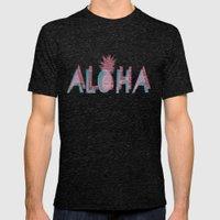 Vintage Aloha  Mens Fitted Tee Tri-Black SMALL