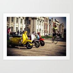 Vespa Scooters in Greenwich Art Print