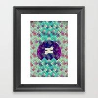 ≠. Framed Art Print