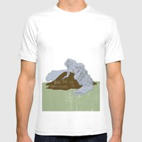 Pelean Volcanic Eruption Mens Fitted Tee White SMALL