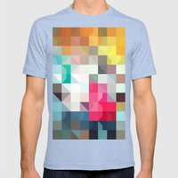 Color Story - Pixelated … Mens Fitted Tee Tri-Blue SMALL
