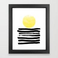 Soleil - Sunset Sunrise … Framed Art Print