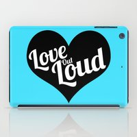 Love Out Loud - Black & White iPad Case