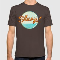 Summer Slurp! Mens Fitted Tee Brown SMALL