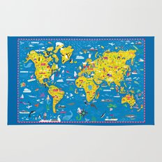 Big Fun World Map Rug