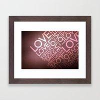 L O V E {I} Framed Art Print