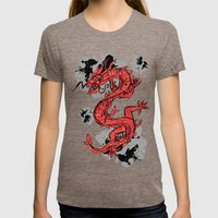 Dragon Womens Fitted Tee Tri-Coffee SMALL
