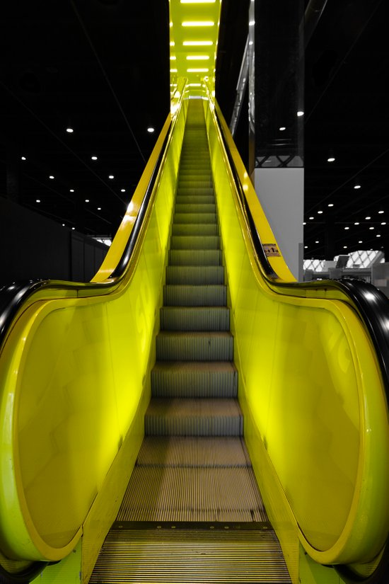 Escalator Art Print