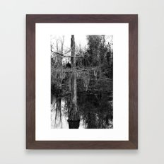 moss and tree Framed Art Print