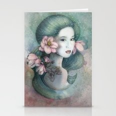 Magnolias In This Dusk Stationery Cards