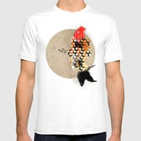 Carp_koi_ink Mens Fitted Tee White SMALL