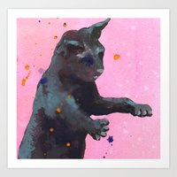 Crazy Cats, Crazy Cat La… Art Print