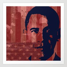 Heads of State: Barack Obama Art Print