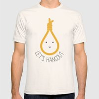 Let's Hangout Mens Fitted Tee Natural SMALL