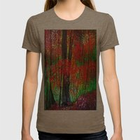 Magical Forest Womens Fitted Tee Tri-Coffee SMALL