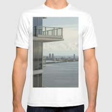 Miami Skyline White SMALL Mens Fitted Tee
