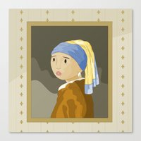 Girl With Pearl By Verme… Canvas Print