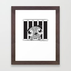 Inside me, there's a softie Framed Art Print