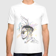 Wish A Rocking Easter! SMALL White Mens Fitted Tee
