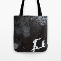 Winter Golfing Tote Bag
