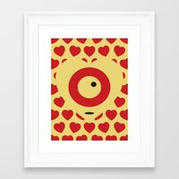 EMPTY HEARTS Framed Art Print