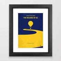 No177 My Wizard Minimal … Framed Art Print