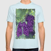 Grapes Mens Fitted Tee Light Blue SMALL