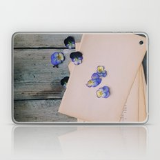 She Filled the Pages of Her Life With Happiness and Flowers Laptop & iPad Skin