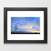 Evening's Last Light Framed Art Print