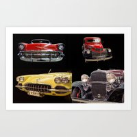 Chevy Collage Of Classic… Art Print