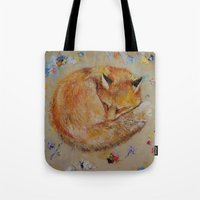Sleeping Fox Tote Bag
