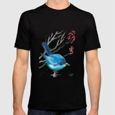 Little Blue Fairy SMALL Mens Fitted Tee Black