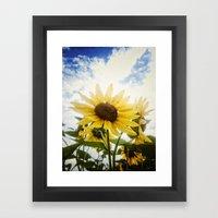 Summer Sunflower Sky Framed Art Print