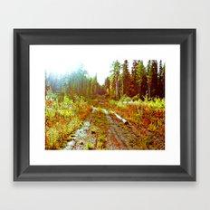 Lone Road Framed Art Print